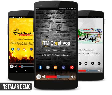 aplicación android radios